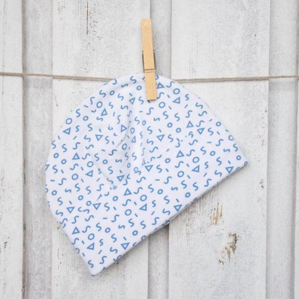 cuffiette bebè simboli blu