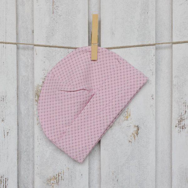 cuffiette bebè pois rosa